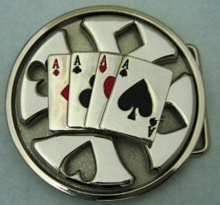 Club Spades Heart Diamond Aces Spinners Belt Buckle Youth Boys Girls Men Women.