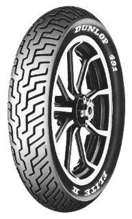 Dunlop 491 Elite II Tire   Front   MT90HB 16   Raised White Letters , Speed Rating H, Position Front, Tire Size MT90 16, Tire Type Street, Tire Construction Bias, Rim Size 16, Load Rating 71, Tire Application Touring 406791 Automotive