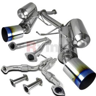 Infiniti G35 Nissan 350Z 2Dr Coupe Dual Exhaust Catback System Burnt Tip Automotive