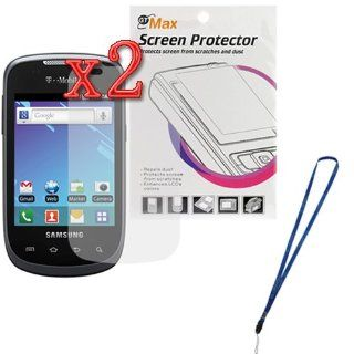 GTMax 2 x Clear LCD Screen Protector for T Mobile Samsung Dart SGH T499 with*Strap Lanyard* Cell Phones & Accessories