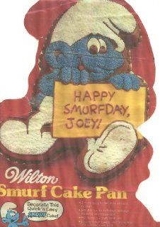 Wilton Smurf Cake Pan (502 4033, 1983) Peyo Wallace Berrie & Co., Inc. Novelty Cake Pans Kitchen & Dining
