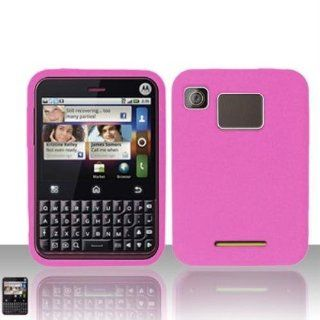 Hot Pink Silicon Case for MOTOROLA Motorola Charm MB502 Cell Phones & Accessories