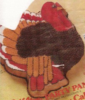 Wilton Turkey Thanksgiving Holiday Cake Pan (502 2634, 1979) Retired Novelty Cake Pans Kitchen & Dining