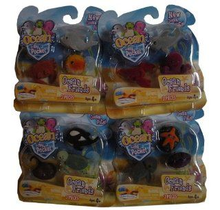 Ocean in My Pocket Friends Complete Set Starfish, Clam, Octopus, Lobster, Blue Shark, Killer Whale, Puffer Fish, Dolphin, Crab, Turtle, Stingray, Elephant Seal Toys & Games