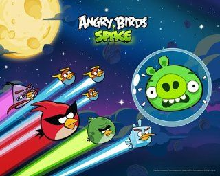 Angry Birds Space   Scared Pig 10x8 Poster Print