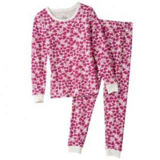 Cuddl Duds Warmwear Heart Thermal Long Underwear Set   Girls' (XSmall) Base Layer Sets Clothing