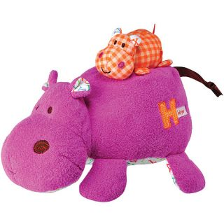 Kids Preferred Smarty Kids H is for Hippo Mama Baby Action Musical Plush Activities & Toys