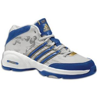 adidas Little Allstars   Arenas Little Kids' Basketball Shoe, Grey/Blue/Gold, 4.5 M US Big Kid Shoes