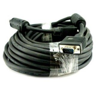 Importer520 25 FT SVGA HD15 SUPER VGA Male to Male M/M MONITOR/LCD/PROJECTOR CABLE Great for hooking up projectors and computer flat panel display monitors to portable or desktop computers for netflix viewing  HDTV   Plasma Televisions   LCD LED TV With Fe