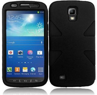Importer520 Black +Black Dynamic Hybrid Tuff Premium Rugged Hard Soft Case Skin Cover For Samsung Galaxy S4 Active i537 i9295 AT & T Cell Phones & Accessories