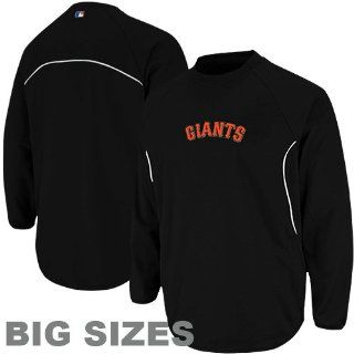 MLB Majestic San Francisco Giants Big Sizes Therma Base Tech Fleece Sweatshirt   Black (XXXX Large)  Sports Fan Outerwear Jackets  Sports & Outdoors