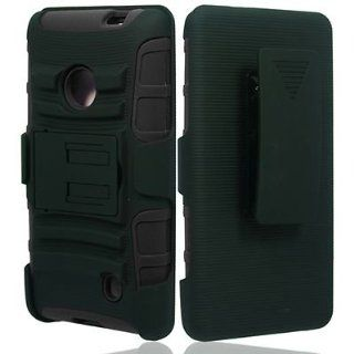 For T Mobile Nokia Lumia 521 Windows Phone 8 Hybrid Case Black Stand P Holster