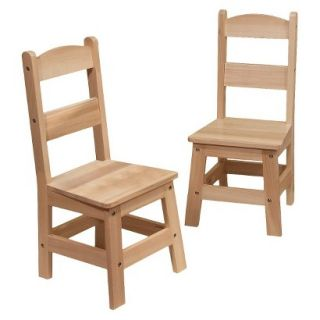 Kids Chair Set Melissa & Doug Wooden Chair Pair