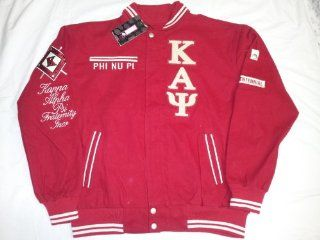 New Red Phi Nu Pi Kappa Alpha Psi Centennial Snap up Fraternity Racing Style Jacket  Sports Fan Outerwear Jackets  Sports & Outdoors