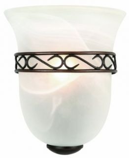 Design House 514596 Marlowe 1 Light Wall Sconce, 9.25 Inch by 8 Inch, Oil Rubbed Bronze