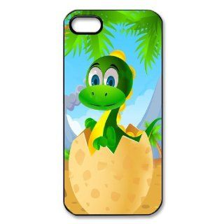 Mystic Zone Personalized Dinosaur iPhone 5 Case for iPhone 5 Cover Cartoon Fits Case WSQ0105 Cell Phones & Accessories