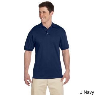 Jerzees Mens Heavyweight Cotton Jersey Polo Shirt Navy Size XXL