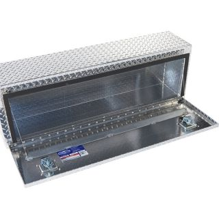 Locking Aluminum Top-Mount Truck Box — 48in. x 12in. x 16in. Size, 1-Door  Top Mount Boxes