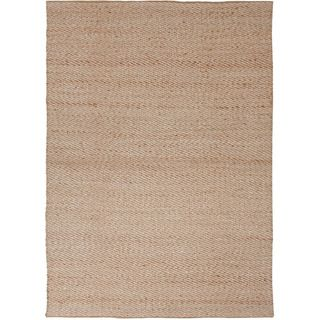 Handmade Textured Naturals Solid Pattern Brown Rug (5 X 8)