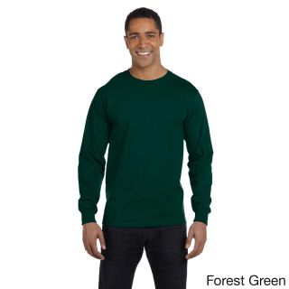 Gildan Mens Dry Blend Long Sleeve T shirt Green Size XXL