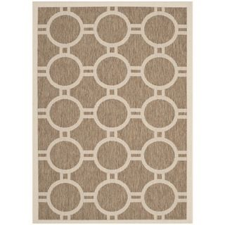 Safavieh Indoor/ Outdoor Courtyard Brown/ Bone Rectangular Rug (4 X 57)