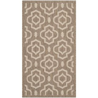 Safavieh Indoor/ Outdoor Courtyard Brown/ Bone Accent Rug (2 X 37