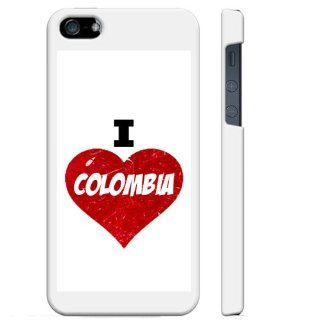 SudysAccessories I Love Heart Colombia iPhone 5 Case iPhone 5S Case   SoftShell Full Plastic Direct Printed Graphic Case Cell Phones & Accessories