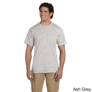 Gildan Mens Dry Blend Pocket T shirt Grey Size XXL