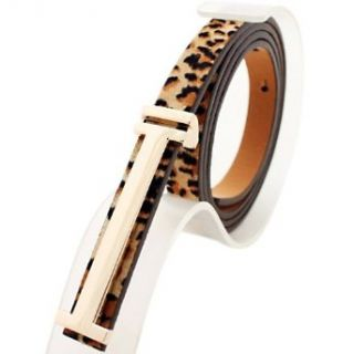 Leopard Print Faux Leather Fashion Belt for Ladies, Gift Idea