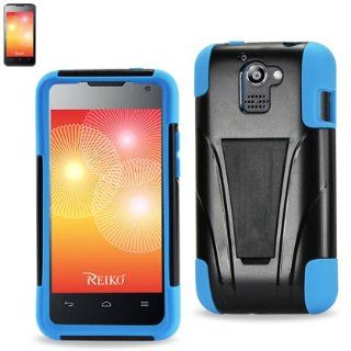 Silicone + Hard TPU Case with Kickstand For HUAWEI PREMIA M93 Black/Blue Cell Phones & Accessories