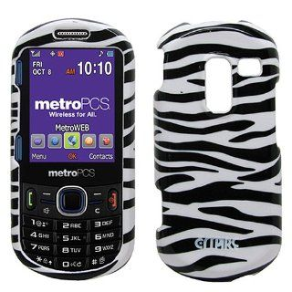 Black White Zebra Hard Case Cover for Samsung Messager III 3 SCH R570 Cell Phones & Accessories