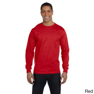 Gildan Mens Dry Blend Long Sleeve T shirt Red Size XXL