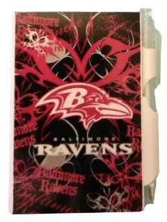 Baltimore Ravens Mini Pocket Notepad & Pen Set   Pink & Black Fashionable Design  Wirebound Notebooks