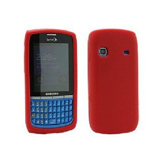 Red Soft Silicone Gel Skin Cover Case for Samsung Replenish SPH M580 Cell Phones & Accessories