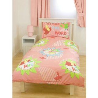 Girls Birds Design Quilt/Duvet Cover Bedding Set (twin bed) (Pink)   Childrens Bedding Collections