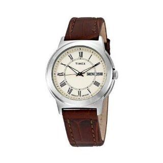 Timex Mens T2E581 Elevated Classics Dress Brown Leather Strap Watch at  Men's Watch store.