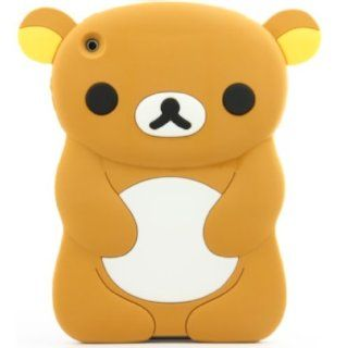 Brown Soft Silicone Gel Skin 3D Teddy Bear Apple iPad Mini Cover Case Computers & Accessories