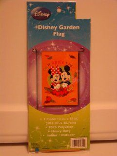 Disney Mickey & Minnie Mouse Thanksgiving Garden Flag
