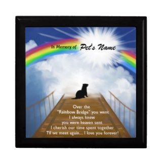 Rainbow Bridge Memorial Poem for Ferrets Keepsake Boxes