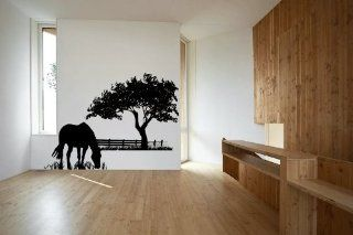 Horse Grazing Vinyl Wall Decal Sticker Graphic By LKS Trading Post   Wall Decor Stickers