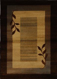 Home Dynamix Royalty HD602J 530 Polypropylene 7 Feet 8 Inch by 10 Feet 4 Inch Area Rug, Brown/Blue   Throw Rugs