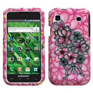 Pink Flower Bouquet Design Protector Case Snap On Hard Cover for Samsung Vibrant T959 T Mobile Cell Phones & Accessories