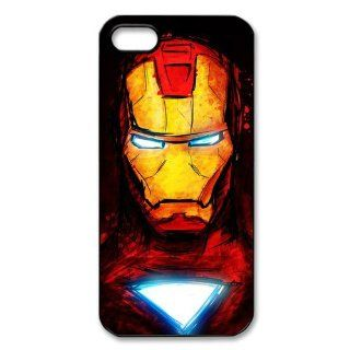 PhoneCaseDiy Top Movie Iron Man Custom Case Plastic Hard Case Personalized Cases For Iphone 5 Ip5 AX50707 Cell Phones & Accessories