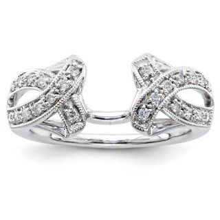 14k White Gold Diamond Ring Wrap Jewelry