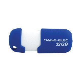 Dane Elec Da Zmp 32G Ca A1 R Capless Usb Pen Drive (32Gb; Blue) Computers & Accessories