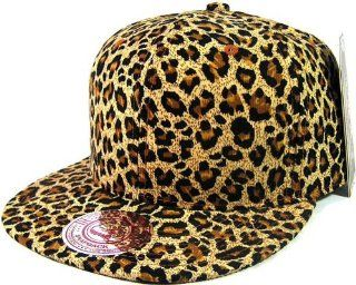All Over Cheetah / Leopard Print Snapback Hat Cap  Sports Fan Baseball Caps  Sports & Outdoors