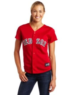 MLB Boston Red Sox Scarlet Alternate Baseball Jersey Spring 2012 Women's  Sports Fan Jerseys  Sports & Outdoors