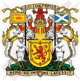 "SCOTLAND Scottish Royal Coat of Arms Badge Crest UK 90mm (3.5"") Vinyl Bumper Sticker, Decal"