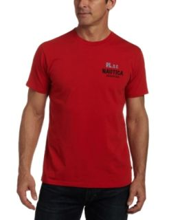 Nautica Men's Logo Swim Club Short Sleeve Tee, Tomale Red, Small at  Men�s Clothing store