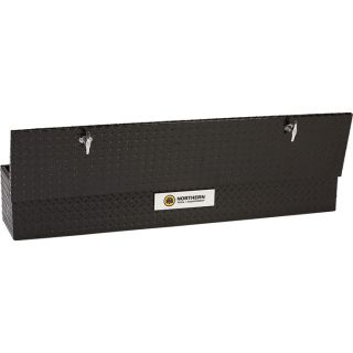 Aluminum Flush-Mount Side-Bin Truck Box — Black, 60 1/2in.L x 12 1/2in.W x 10 1/2in.H  Side Mount Boxes
